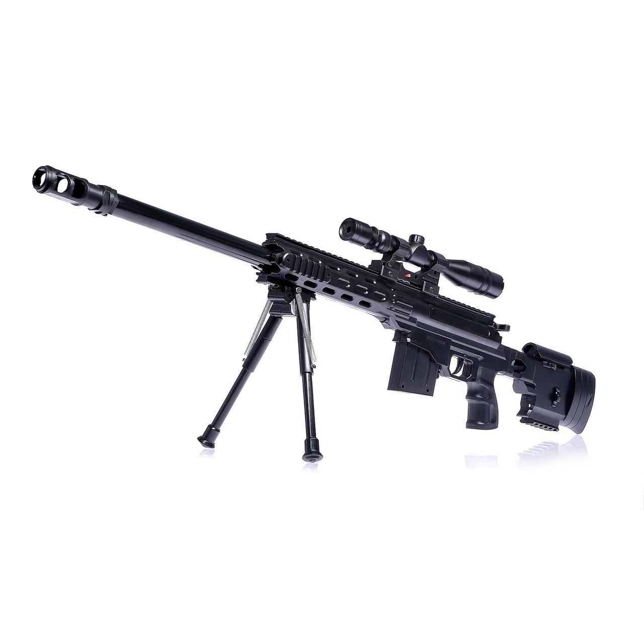 Игрушечная пневматическая снайперская винтовка Cross Fire M5899 96см с лазерным прицелом