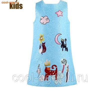 Платье нарядное голубой цвет голубой, полуобхват груди 35 см