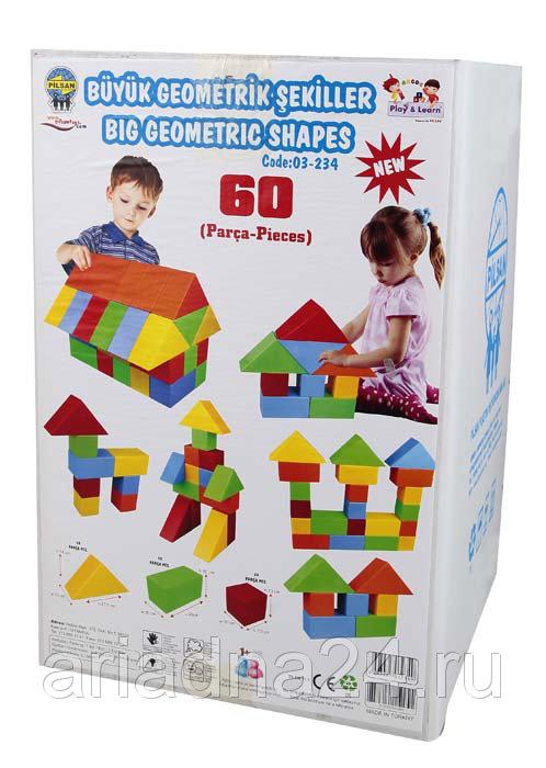Конструктор Геометрическе фигуры 60 штук
