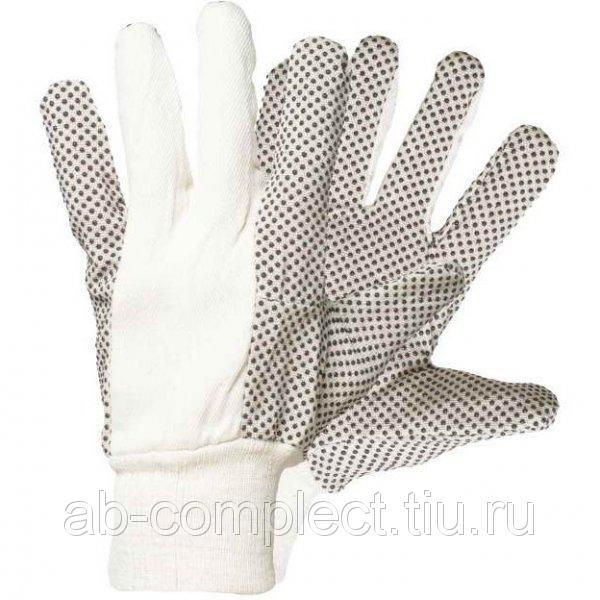 Перчатки Delta plus CP149 шитые с ПВХ точкои