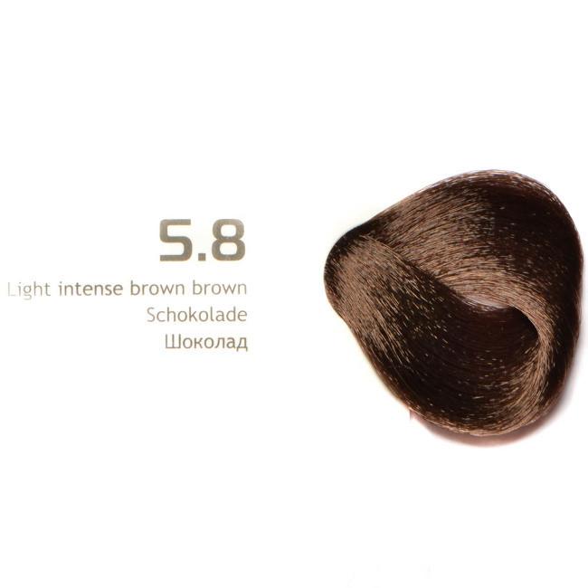 "NA 58 шоколад крем краска для волос с кератином «Non Ammonia» серии ""Magic Keratin"",100мл"