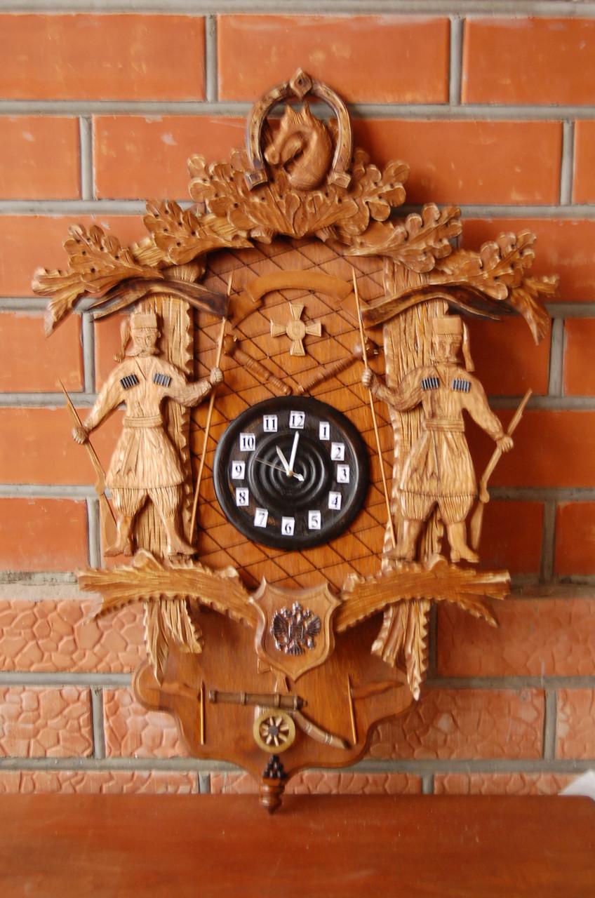 Часы с кукушкойАвторская работаПодарок настоящему казаку