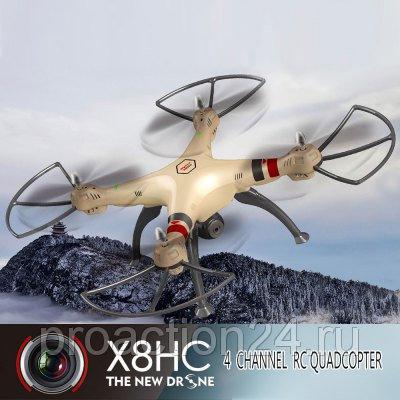 Квадрокоптер SYMA X8HC новая модель с автоматическим удержанием высоты барометром с HD камерой 2Mp