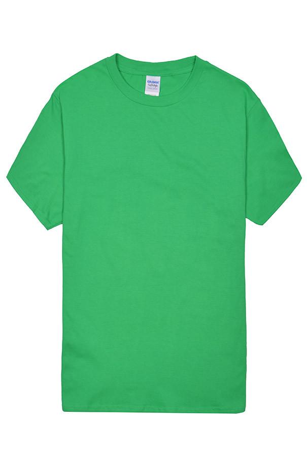 Футболка мужская  Gildan  63000 Soft Style Knit Jersey T Shirt  зелёный  (S)