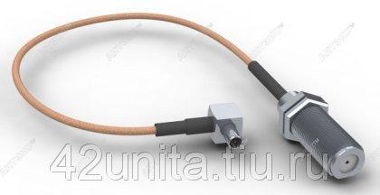 Антенный адаптер для 3G4G модемов ZTE, F female   TS 9 (угловой)