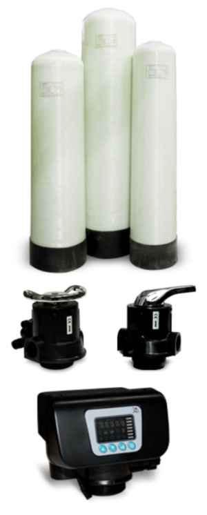 Фильтр умягчения воды ФИП 0844 с ручным клапаном управления Runxin