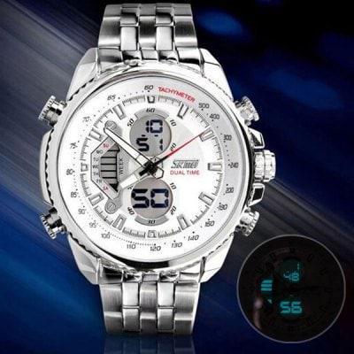 Skmei 0993 Кварцевые мужские цифровые часы с двойным движением
