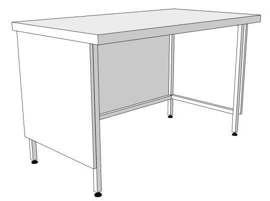 Стол лабораторный пристенный (ЛАБ_ФХ)