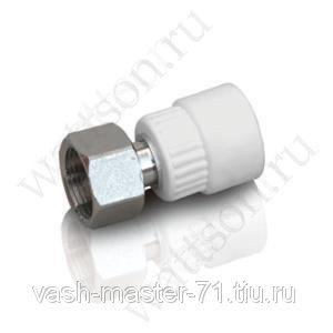 Полипропилен белый FUSITEK Муфта с накидной гайкой PPR (W) 20 x 12 (10 шт  180 шт)