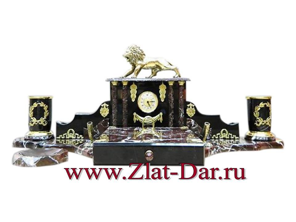 047ЯНН 012 Настольный набор из Яшмы для руководителя