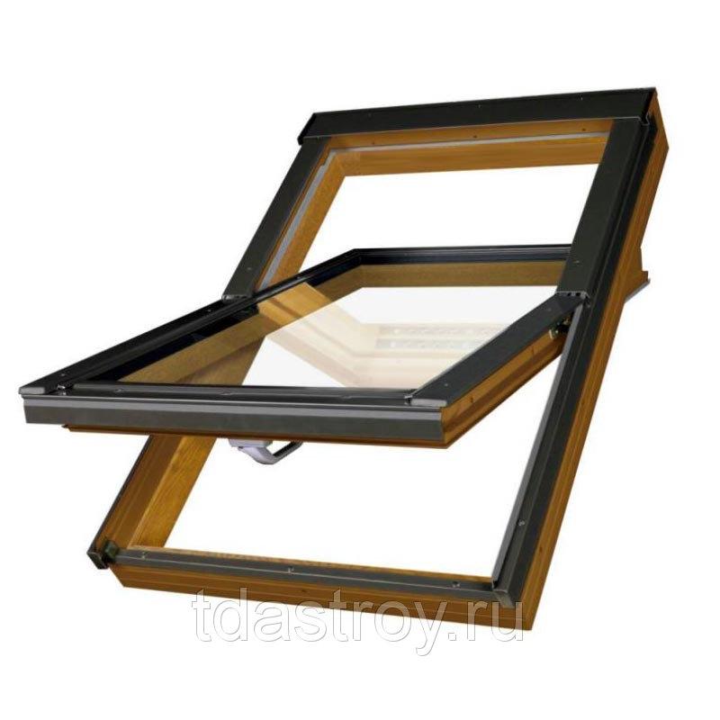 Пластиковое мансардное окно Fakro PTP U3 ПВХ 55х78
