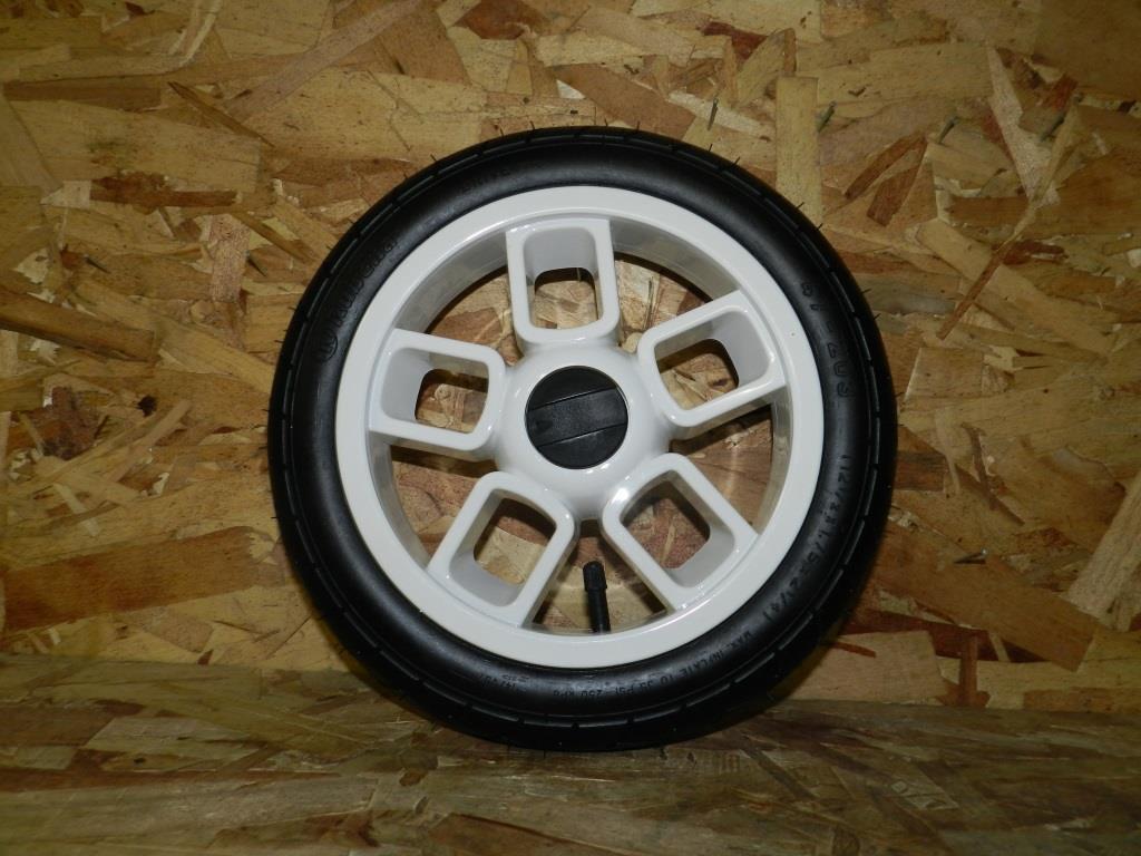 Колесо №23 для детской коляски 12 дюймов (белый диск)