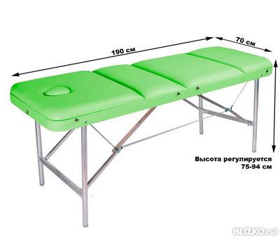 Массажный стол COMFORT ETALON 190Р фисташка