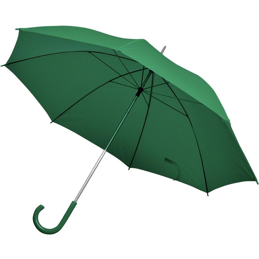 Happy gifts Зонт трость с пластиковой ручкой, механический зеленый D=103 см нейлон шелкография