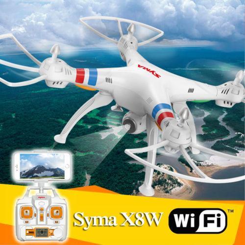 Квадрокоптер SYMA X8W с камерой и FPV трансляцией в реальном времени Цвет белый