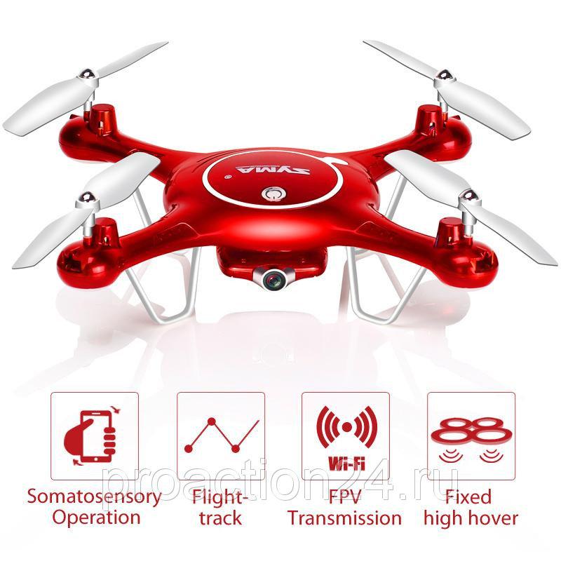 Квадрокоптер Syma X5UW c камерой WIFI передача видео на смартфон датчиком удержания высоты и бароме
