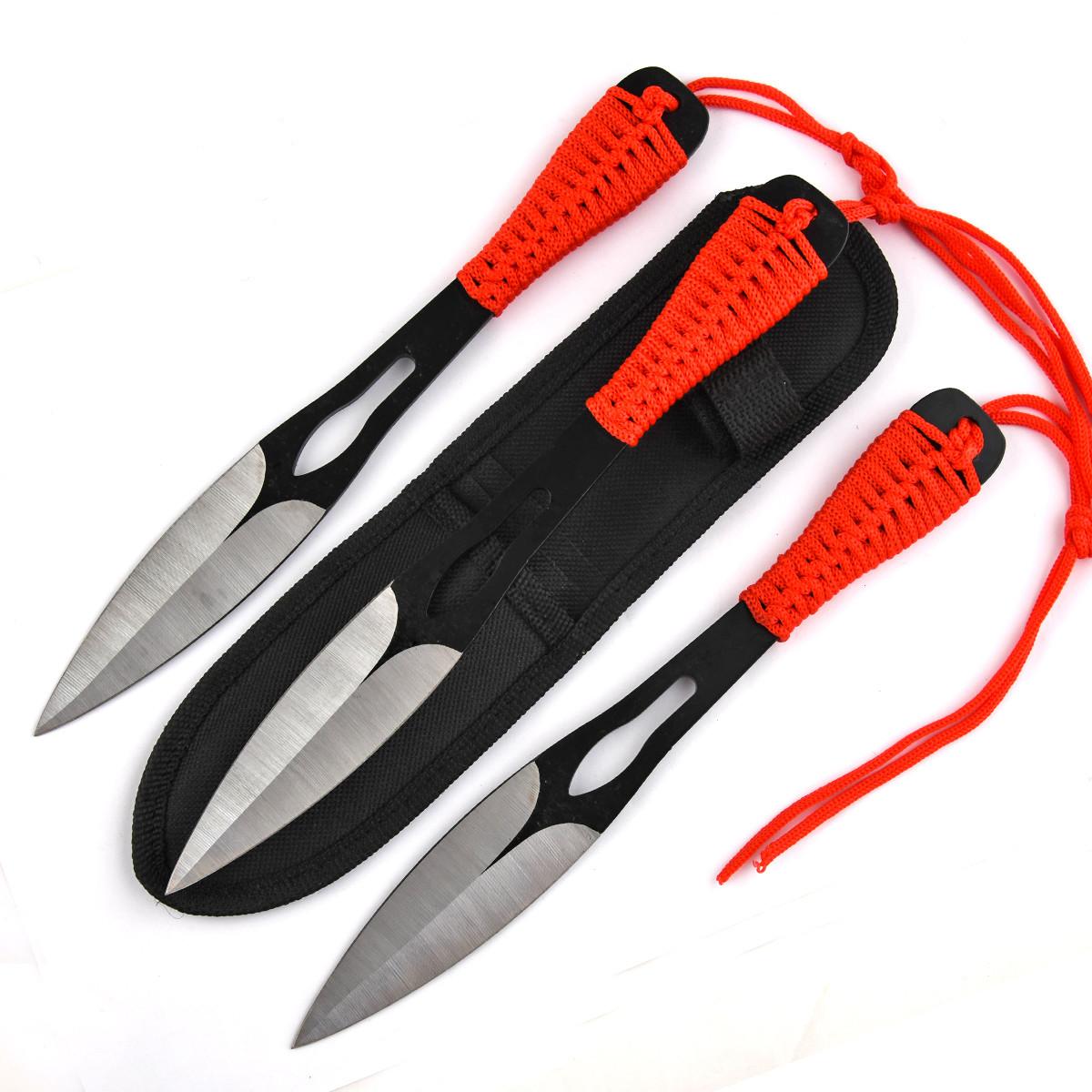 Высокоточные спортивно метательные ножи Оса (3 шт, паракорд, чехол)