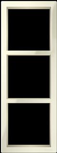 Трехпостовая вертикальная рамка бежевая CGSS