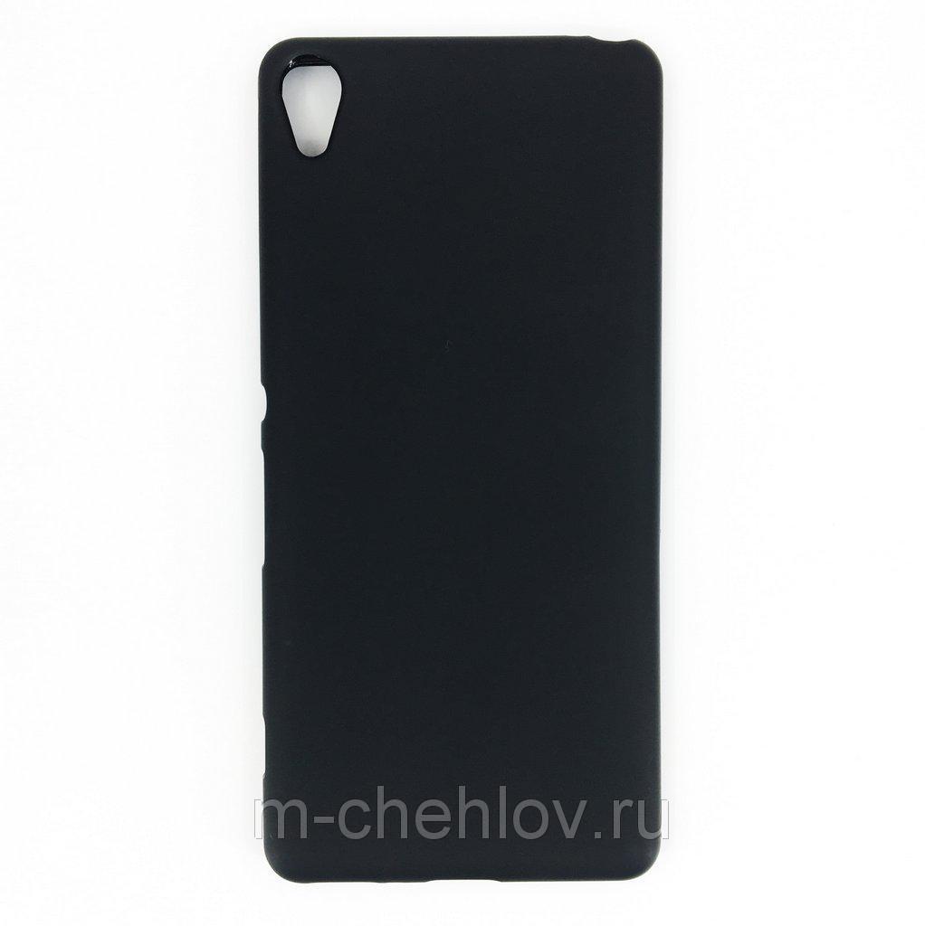 Силиконовый чехол для Sony Xperia XA (матовый ,черный)