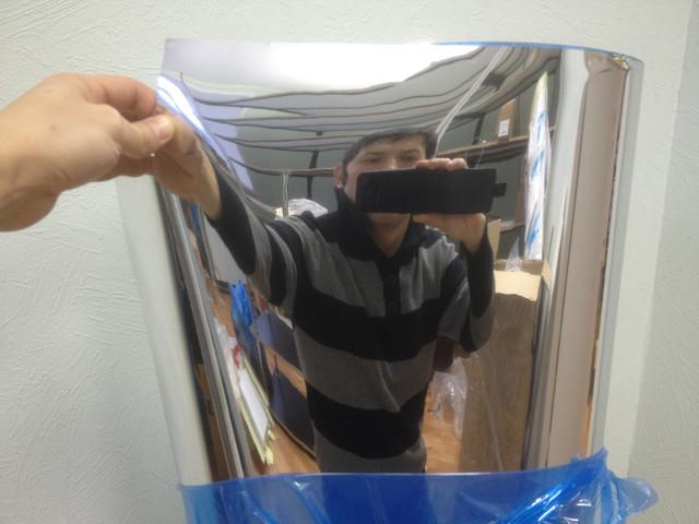 Декоративная самоклеющаяся зеркальная пленка Безопасное зеркало G2R 020A, ширина 1м, 176мкм