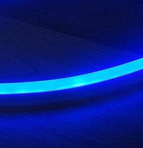 Синий гибкий неон 8х16 LED 220 Вольт