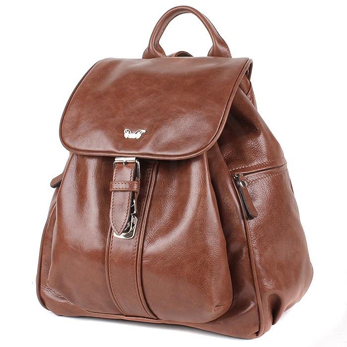 Рюкзак кожаный рыжий 390 3