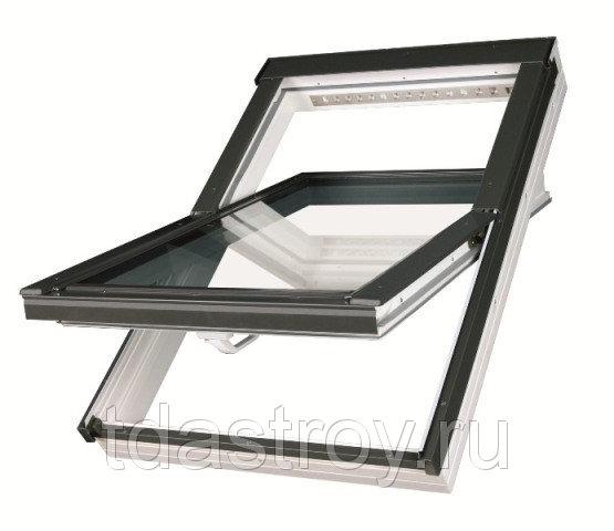 Пластиковое мансардное окно Fakro PTP U3 ПВХ 55х98