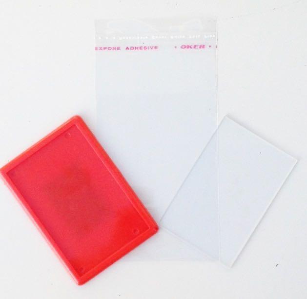 Магнит акриловый прямоугольный Красный