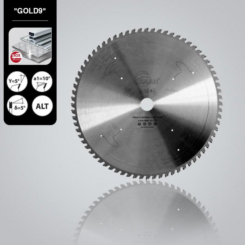 Пильный диск по нержавеющей стали Leman Gold9