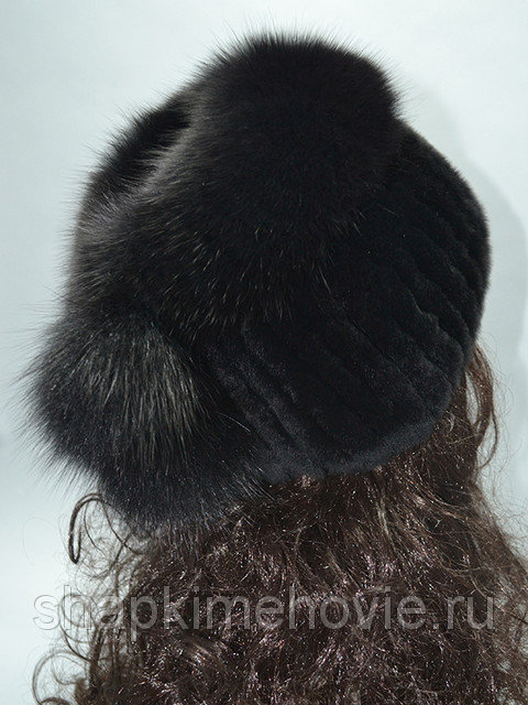 Меховая шапка Кубаночка из меха кролика REX