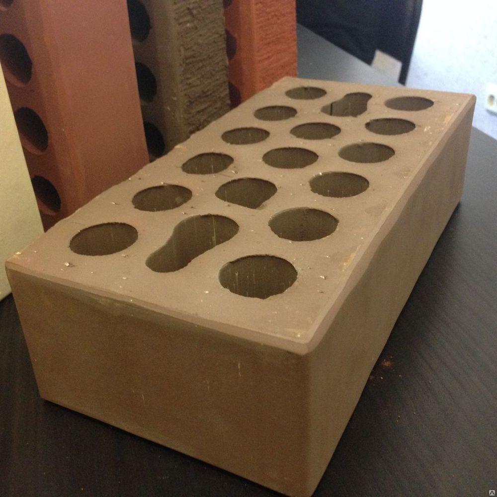 Кирпич керамический 250х120х88 лицевой пустотелый коричневый гладкий