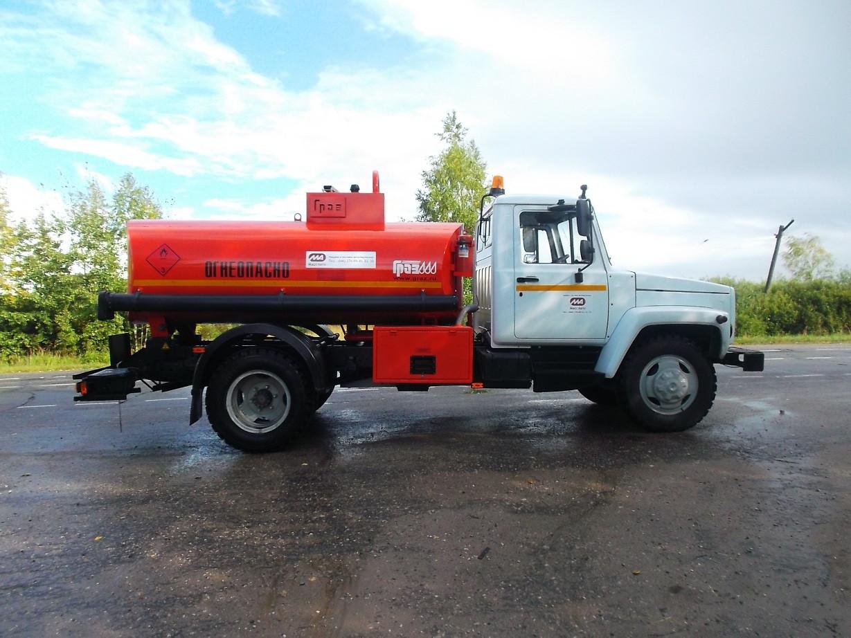 Топливозаправщик ГАЗ 3309 (тахограф)