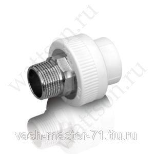 Полипропилен белый FUSIONPLAST Муфта комб с нарр PPR (W)   32 x 1 (10 шт  60 шт)