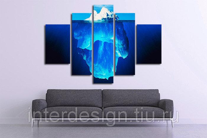 Модульная картина на холсте Айсберг