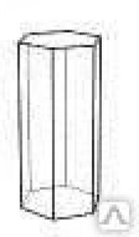 Шестигранная подставка с зеркальной площадкой, д60мм, в80мм