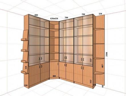 Книжные шкафы для библиотеки