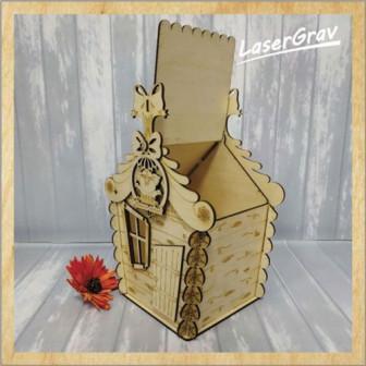 Новогодня подарочная коробка Конфетница