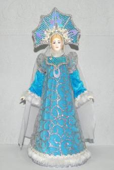 Сувенирная кукла Снегурочка, рост 30 см.