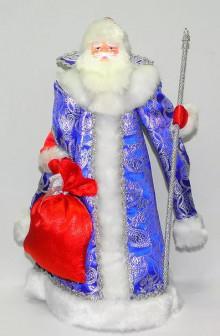 Сувенирная кукла - конфетница Дед Мороз, рост 35 см.