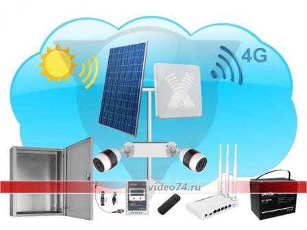 Автономная система видеонаблюдения kCB UL51 на солнечной электростанции