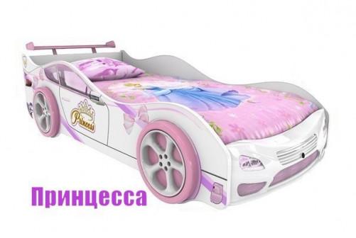Кровать машина с пластиковым бампером ПРИНЦЕССА