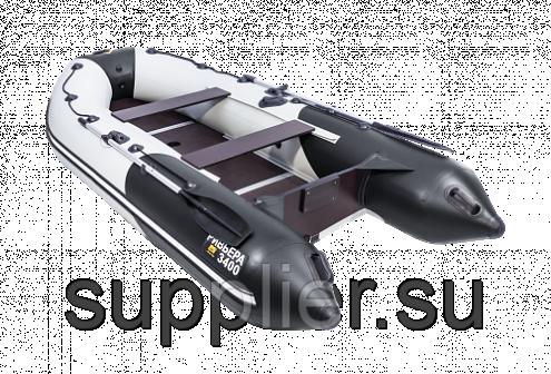 Лодка Ривьера 3400 СК Компакт под мотор до 15 лс Цвет Комби(СерыйЧерный)