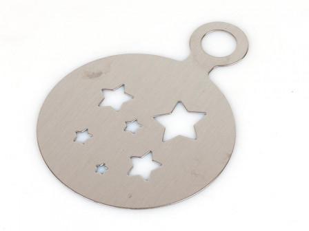 Трафарет для кофе и тортов Звёзды нержсталь d= 8 см