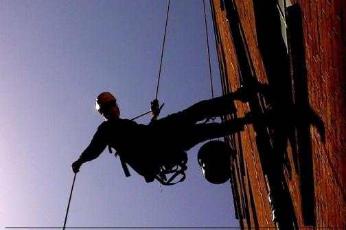 Промышленные альпинисты. Высотные работы
