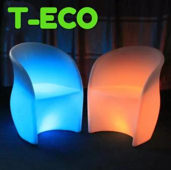 Пластиковая дизайнерская мебель с подсветкой