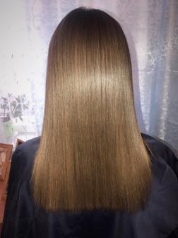 Кератиновое выпрямление и ботокс для волос.