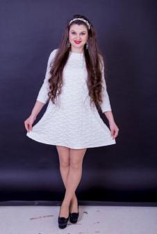 Белое платье 3D.