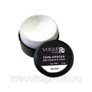 Vogue Nails, Гель краска без липкого слоя, белая
