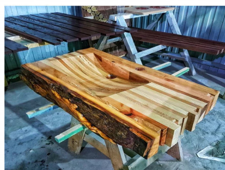 Раковины из дерева. Эксклюзивная сантехника