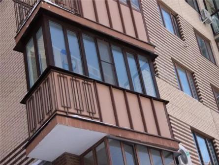 Остекление балкона теплое